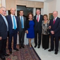 Dinner with Admiral Edouard  Guillaud and Lebanese officials