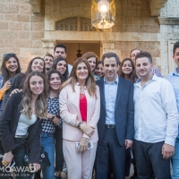 Elected MP Michel Moawad receives congratulators in Zgharta - 4