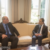 HE Ambassador Ghassan Elkhatib hosts lunch in honor of Michel Moawad in Melbourne