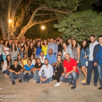 Michel Moawad hosts Independence Movement youth cadres over dinner banquet at the family house in Ehden