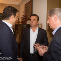 Independence Movement leader Michel Moawad hosts a dinner to honor Carlos Ghosn