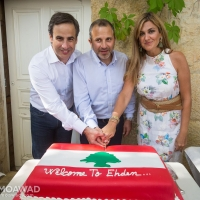 Lunch in honor of Minister Gebran Bassil in Ehden
