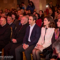 Michel and Marielle Moawad at Aline Lahoud Christmas concert at Saydet Zgharta church organized by the Rene Moawad Foundation Christmas Village
