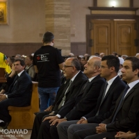 Michel and Marielle Moawad attend Michel El Sayegh funeral