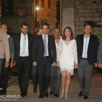 Michel and Marielle Moawad attend the launching of the strategic development plan of Zgharta- Ehden municipality