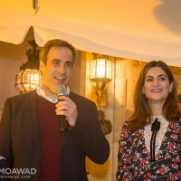Michel and Marielle Moawad host a Christmas reception in Zgharta
