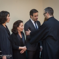 Michel and Marielle Moawad participated in the requiem mass for the repose of the soul of former MP Samir Frangieh, and received condolences along with his family members