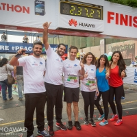 Michel and Marielle Moawad participate in the 2016 Beirut Marathon