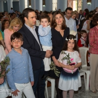 Michel Moawad and his family celebrating Palm Sunday in Zgharta