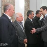 Michel Moawad attending the funeral of Martyr Bourtos EL Bayeh
