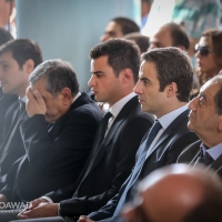 Michel Moawad attending the funeral of Toufic Moawad