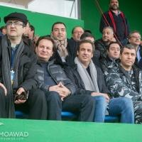 Michel Moawad attends Al Salam Zgharta vs Tajikistan FC Khyar game