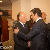 Michel Moawad heading a delegation of the Independence Movement, offers condolences to minister Ashraf Rifi