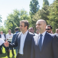 Michel Moawad hosts a dinner at his residence in Ehden in honor of HE Minister Ghassan Hasbani
