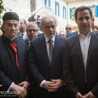 Michel Moawad participates in a mass followed by the unveiling of Patriarch Douaihy statue in Bkerke