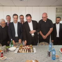 Visit to the Head of the Monastery of Our Lady Of Lebanon Father Tony Sarkis. It was an occasion to celebrate Bishop Antoine-Charbel Tarabay\'s 50th Birthday.