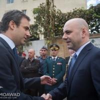 نائب رئيس الحكومة غسان حصباني يضع إكليل باسم الجمهورية اللبنانية عند موقع إغتيال الرئيس الشهيد رينه معوض ورفاقه.