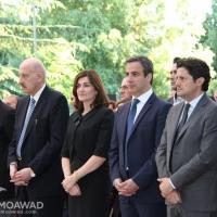 ميشال وماريال معوض يشاركان في الذكرى السنوية لاستشهاد الوزير طوني فرنجية وعائلته ورفاقه