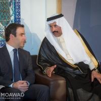 ميشال معوض يقدم التعازي للسفير السعودي بوفاة خادم الحرمين الشريفين الملك عبدالله