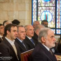 ميشال معوض يشارك في قداس وازاحة الستار عن تمثال البطريرك الدويهي في بكركي