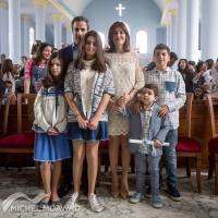 ميشال معوض وعائلته يحتفلون بأحد الشعانين في زغرتا