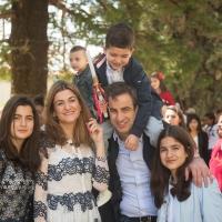 ميشال معوض وعائلته يحتفلون بأحد الشعانين في زغرتا-2017
