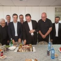 زيارة إلى رئيس دير سيدة لبنان الأب طوني سركيس حيث كانت مناسبة للاحتفال بالعيد الـ50 للمطران أنطوان شربل طربيه